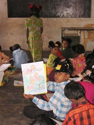 Coloring Event for kids at Benniganahalli government school