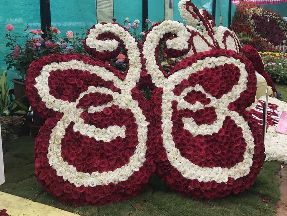 Flower installation at lalbagh