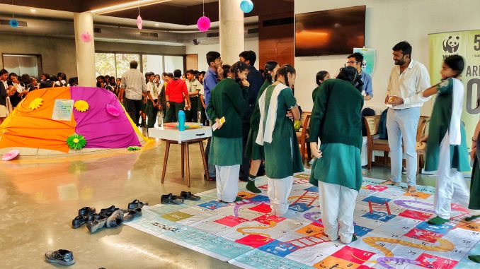 Interactive games and exercises kept the students engaged and helped them connect better with their city's civic issues. Pic: Ekta Sawant