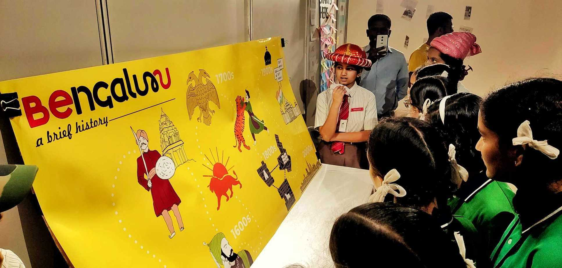 A special stall was set up by Heritage Beku where students had the opportunity to better understand their city's history and heritage. Pic: Ekta Sawant
