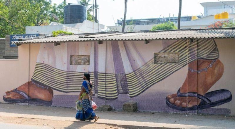 A mural from Malleswaram Hogona campaign for better pedestrian facilities
